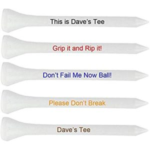 gifts for him personalised golf tee's